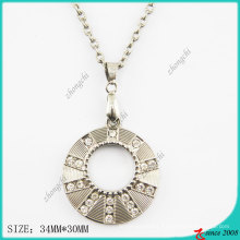 Zinc Alloy Metal Round Necklace (PN)