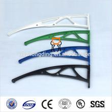 Hohl-Polycarbonat-Markise mit UV-Beschichtung