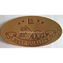 Patch en cuir - Accessoire de vêtement Nom de marque privé personnalisé Logo Jeans Patch d'étiquette en cuir