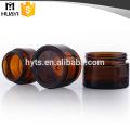 bocal rond en verre ambre cosmétique