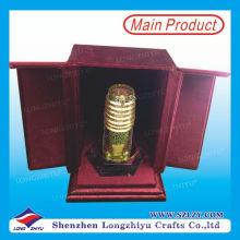 Custom UAE Metal Trophy Acrlic Base Velvet Box