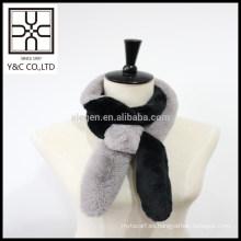 2015 Nueva bufanda de piel de falso color doble diseño