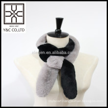 2015 New design Double Color Faux Fur Scarf