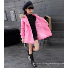Weihnachtskleider für Mädchen Kinder Baumwolle Prinzessin Qualität hoddie rosa Farbe Jacken Kinder Klasse Winter neues Jahr
