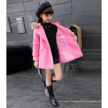 Christmas dresses for girls children cotton princess high quality hoddie pink colour jackets children high class winter new year