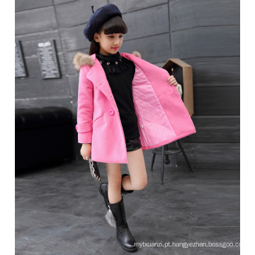 Vestidos de natal para meninas crianças princesa de algodão de alta qualidade hoddie cor rosa casacos crianças de alta classe inverno ano novo