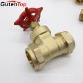 Gutentop China Supplier 15mm-32mm Compression Connector Brass Gate Valve