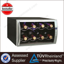 Refrigerador de vino eléctrico de la decoración termoeléctrica comercial resistente
