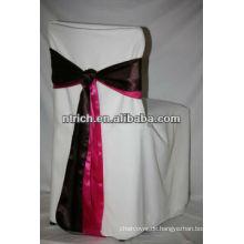 Super 100 % Polyester Stuhlabdeckung mit Schärpe für Hochzeit
