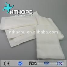 uso médico desechable de esponja blanqueada no tejida