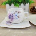 Service d'ODM d'OEM disponible tasses de cappuccino de poterie avec des soucoupes en gros au bas prix