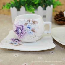 Servicio del ODM del OEM disponible tazas de cerámica del Cappuccino con los platillos al por mayor en el precio bajo
