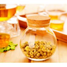 Rôti de stockage de verre à base de borosilicate pour biscuits et aliments secs / pot de stockage de verre