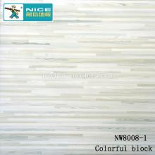 NWseries bloco colorido Parquet piso de madeira HDF núcleo Parquet Flooring