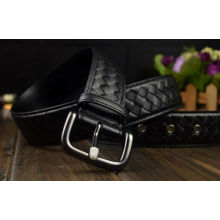 Full Grain braided Leather Belt With Nickel Free Buckle For Man