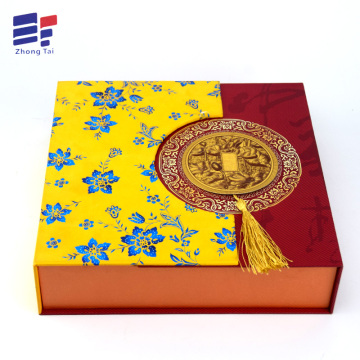 Folding luxury paper wine and tea packaging box