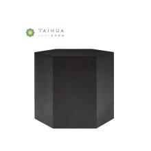 Прикроватный столик из черного шпона с шестигранной головкой