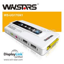 Adaptador multi-display HDMI USB 2.0 a DVI com áudio + porta 2.0