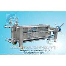 Prensa de filtro de filtración de membrana y filtro de membrana Leo Filter SS