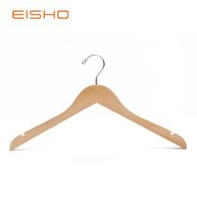 Cintres pour chemises en bois naturel EISHO avec encoches
