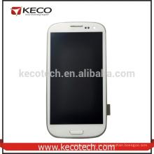 Asamblea de la pantalla táctil del LCD con el capítulo para la galaxia S3 I9300 de Samsung