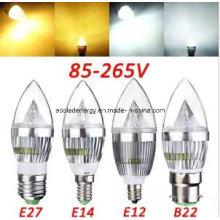 Bougie à bulle LED CE et Rhos E14 3W