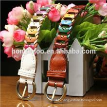 female belt handmade braided belt western cowboy belt branded export surplus equestrian wedding dress belt