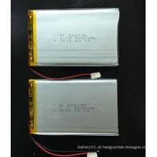 Bateria recarregável de polímero de lítio 3.7V 5000mAh com bateria de lítio com íon 686196