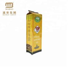 100% qualité alimentaire composé composé plastique thermosoudé côté soufflet de grain de café emballage de café moulu sac de café