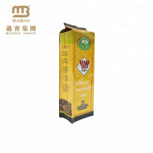 100% Food Grade Custom Design Compound Plastic Heat Seal Side Gusset Coffee Bean Packaging Ground Coffee Bag