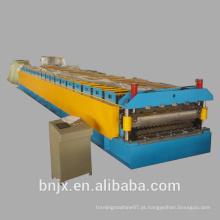 Máquina de moldagem de painel duplo / telhado de dupla camada de alta velocidade, Máquina de moldagem de painel de parede de duplo rolamento