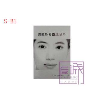Permanent Makeup Eyebrow Practice Book