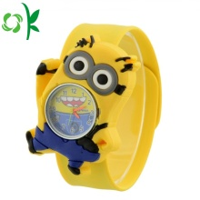 Cute Yellow Silicone Slap Digital Watch Soft Wristbands