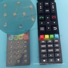 Botão de borracha de silicone elastômero personalizado para controle remoto