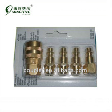 5 PC. SOLID BRASS QUICK COUPLER SET