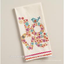 serviettes brodées