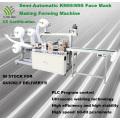 Machine de fabrication de masques KN95/N95 à grande vitesse