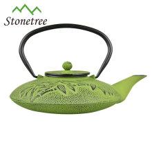 Pot de thé de fonte de fonte enduit d'émail adapté aux besoins du client de vente chaude de restaurant