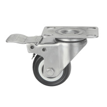Stainless Steel Polyurethane Furniture Castors, Total Brake