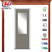 Glass Painted Fiberglass Smooth Prehung Front Door