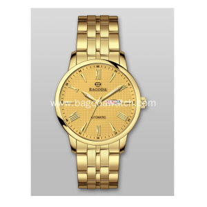 Stainless steel women gold watches