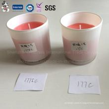 Copa de vidrio resistente al calor con vela perfumada de cera de soja