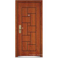 Puerta blindada de madera de acero (YF-G9008)
