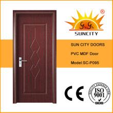 ПВХ высокого качества Нутряная деревянная дверь (СК-P095)