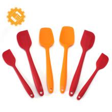 Conjunto de espátula de silicone de 6pcs de produtos de pastelaria de grau alimentício para venda