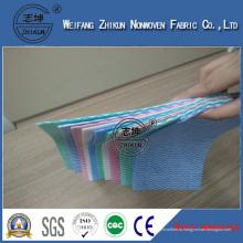 Китай Оптовая Нетканого Материала Спанлейс Ткань Протрите Ткань Nonwoven Прокатанный