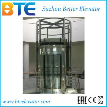 Traktion Vvvf Circular Panorama Passagier Aufzug mit horizontalen Drehen