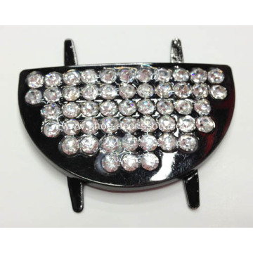 Rhinestone Shoe Buckles, Alloy Shoe Clips