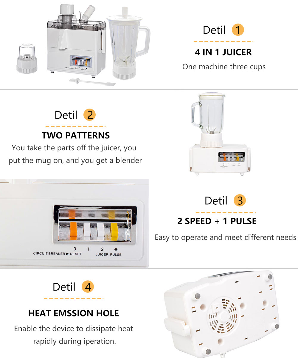 Multifunctional two-cylinder juice machine commercial