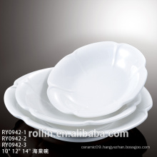 China made different size round ceramic plates